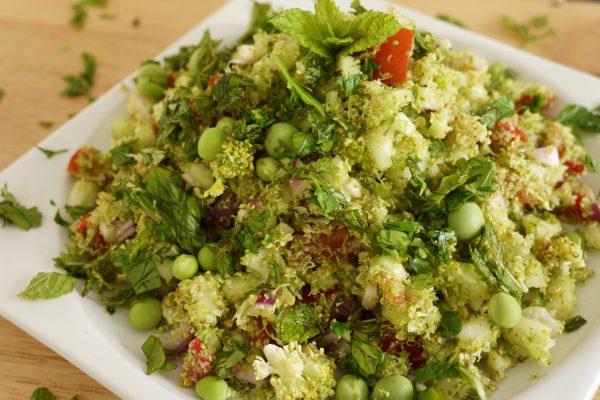 Taboulé 100% légumes frais et pesto d'herbes - Marcel en Cuisine