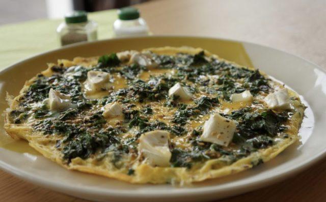 Omelette kale feta - Marcel en Cuisine