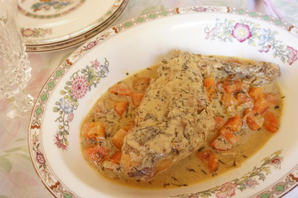 Lapin à la moutarde et à l'estragon - Marcel en Cuisine